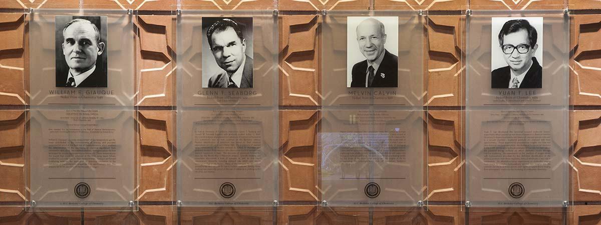 Tribute to Nobel Laureates in Latimer Hall