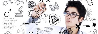 Scientist at whiteboard