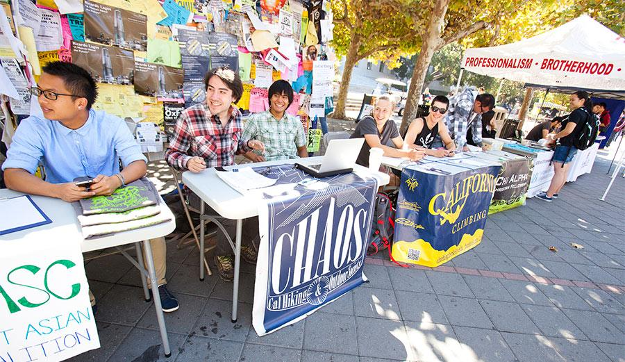 Student organizations on Sproul Plaza