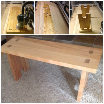 Manny Druga, electrician,  custom table