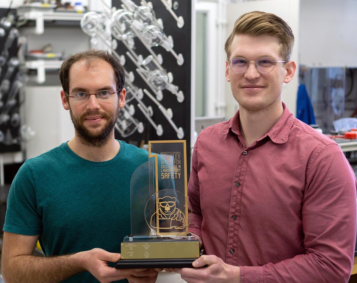 Michael Boreen and Trevor Lohrey, Arnold Lab safety award