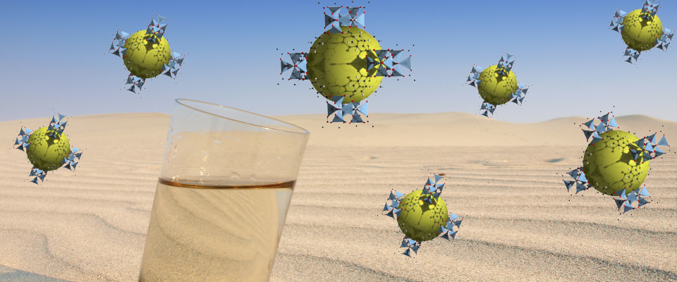 Mofs float above the image of a desert