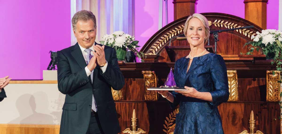 Frances Arnold receives the Millennium Technology Prize
