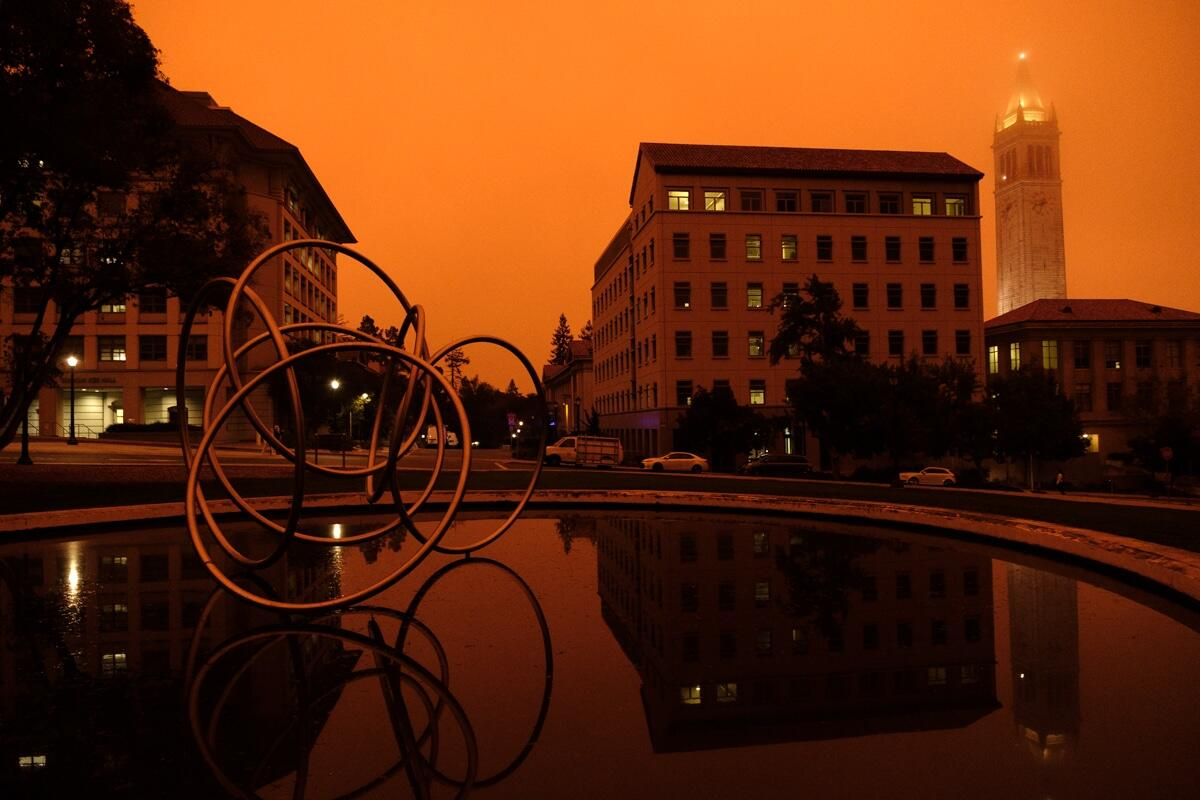 Orange sky at the College