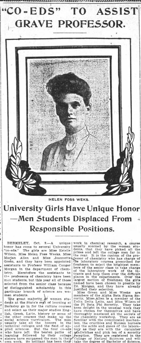 Oakland Tribune article, 1905