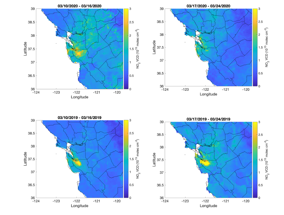Maps show bay area pollution drop