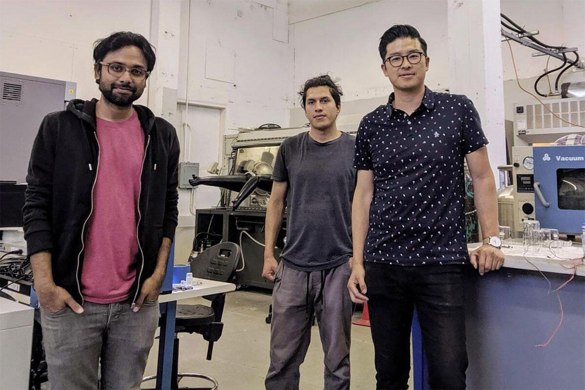 Coreshell Technologies' Roger Basu, Jose Rodriguez and Jonathan Tan