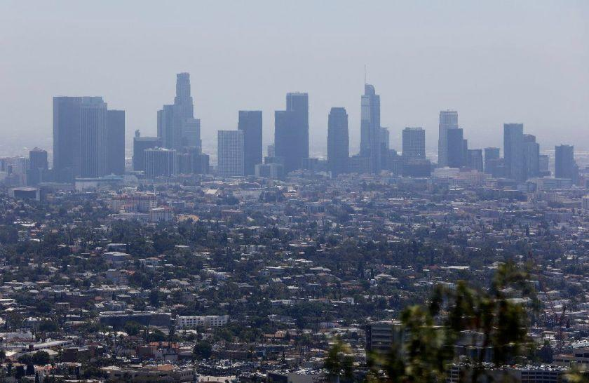 Los Angeles showing a layer of smog