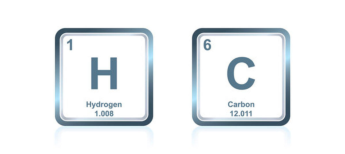 carbon and hydrogen on the periodic table