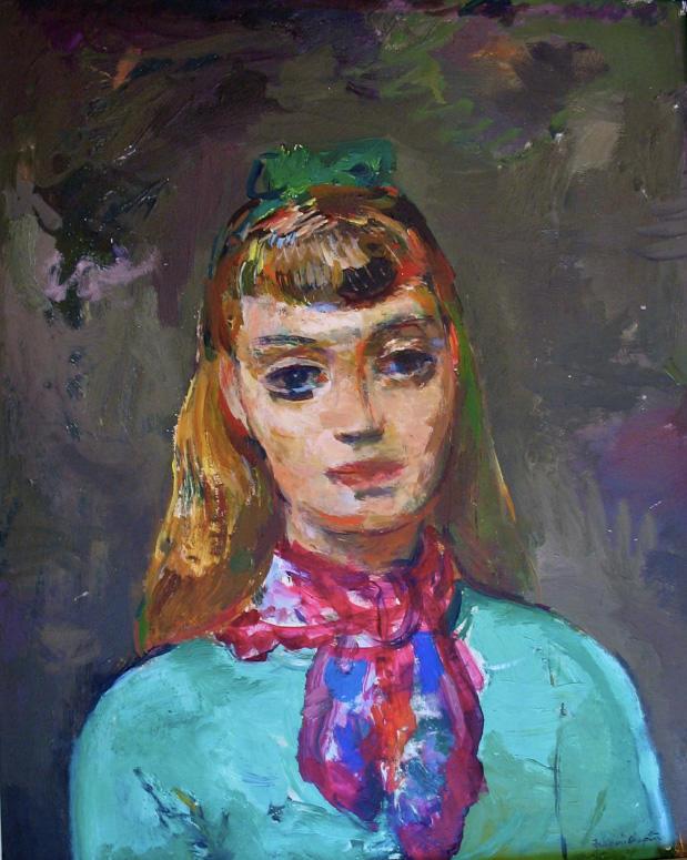 Painting of Christine Harris