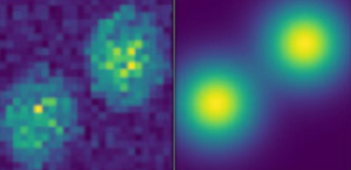 Experimental images of thulium-doped avalanching nanoparticles
