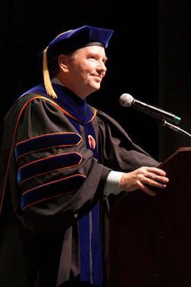 Dean Douglas S. Clark. at 2014 Commencement