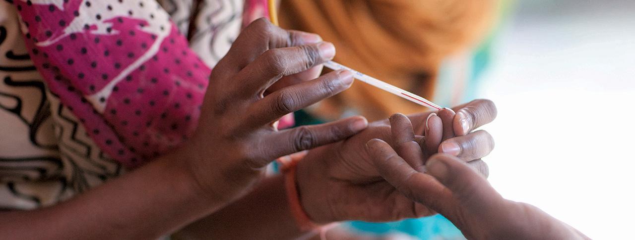 photo of blood sample being taken