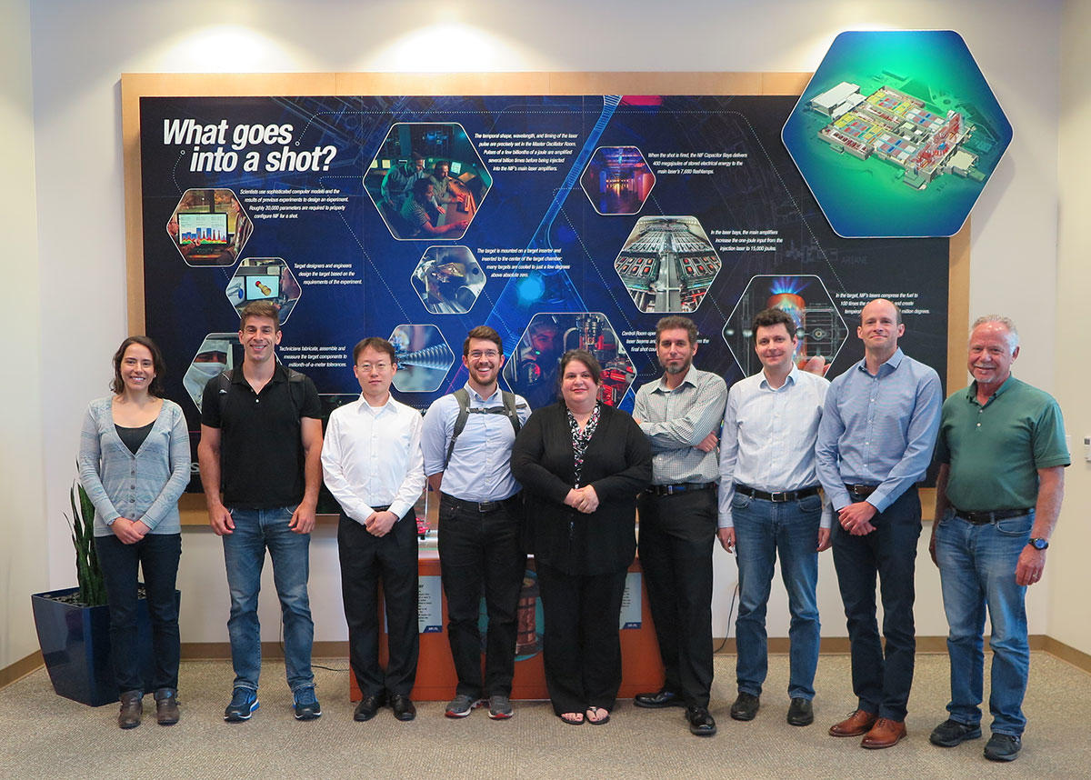 Markita Laundry and DARPA Young Faculty Awardees at Lawrence  Lawrence Livermore national labs with the program director, Grace Rigdon