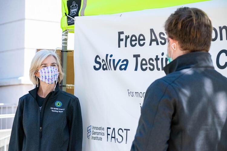 Jennifer Doudna discusses new COVID-19 test