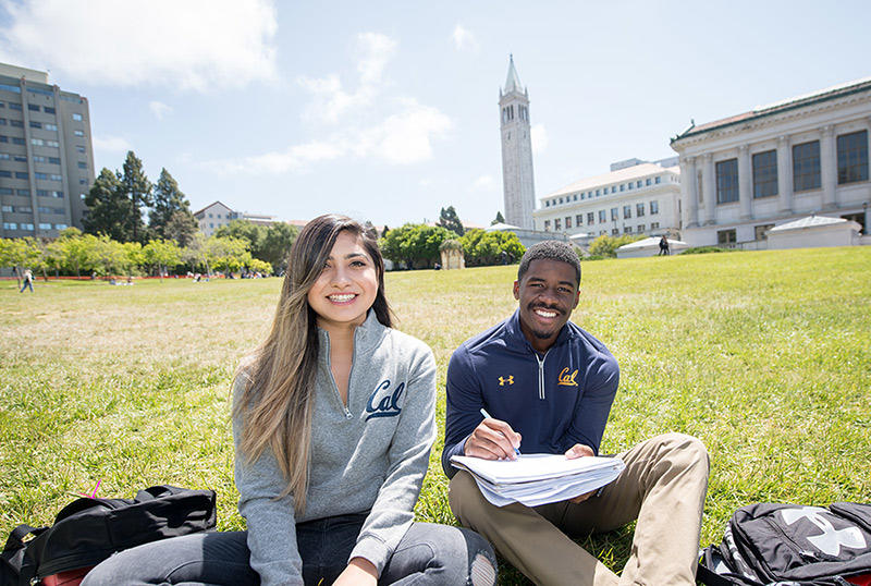 Students on the UC Berkeley campus