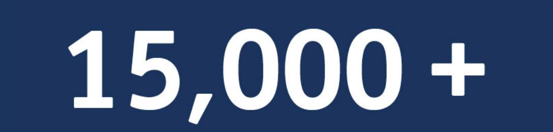 15,000 alumni worldwide