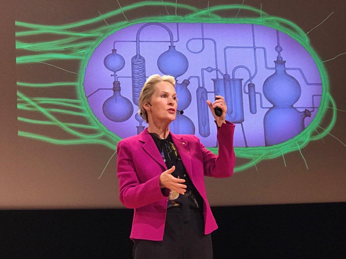 Frances Arnold presents her Nobel speech in Stockholm