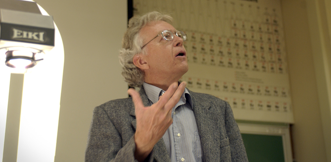Richard Andersen at a lecture at University of Wyoming, 2003