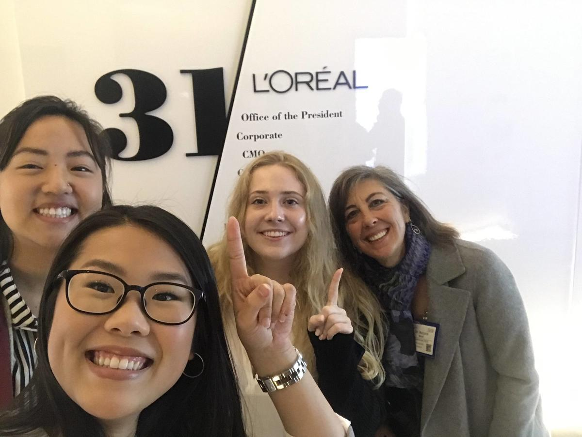 Undergraduate team at L'Oreal Competition in New York