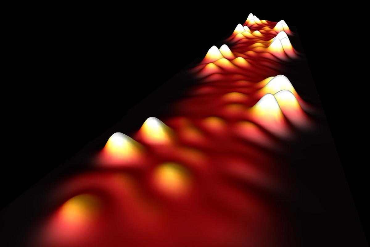 Illustration of graphene nanoribbon