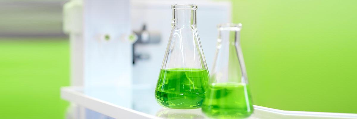 Green flasks