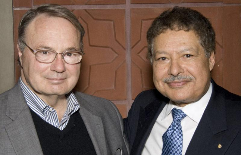 Charles Harris with Ahmed Zewail (left to right)