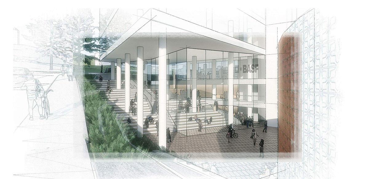 Heathcock Hall front entrance illustration