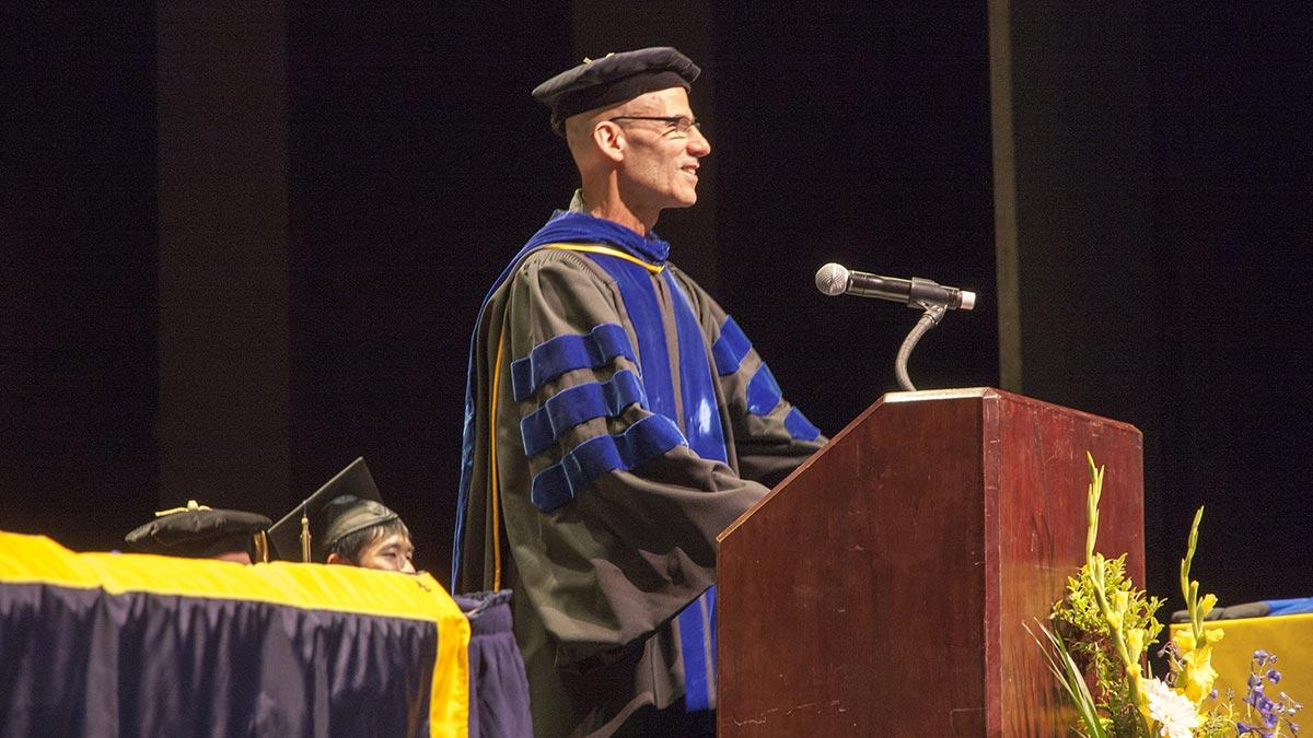 Terry Rosen giving 2016 Commencement Address