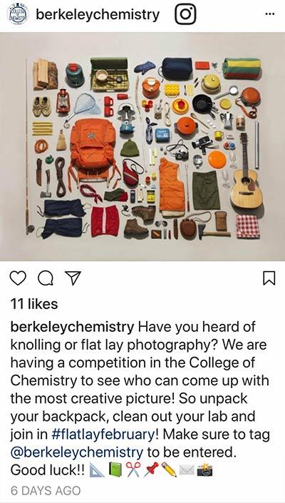 Berkeley Chemistry Instagram post