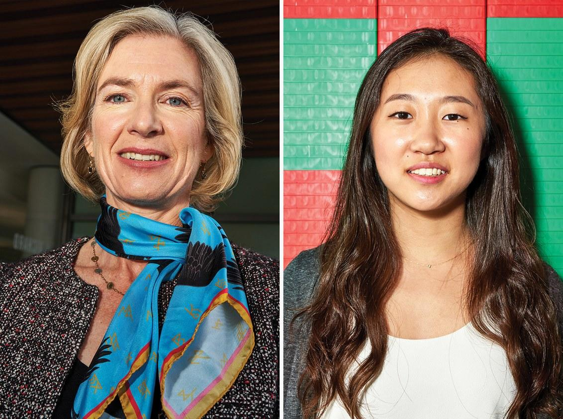 Jennifer Doudna and Jiwoo Lee. Photo courtesy of Michelle Groskopf, Wired Magazine