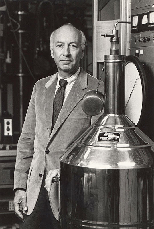 Norman Phillips in his lab, undated photograph