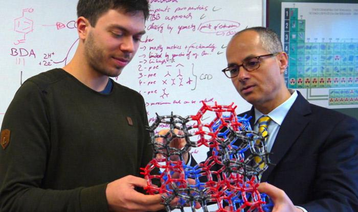 Omar Yaghi and grad student Christian Diercks