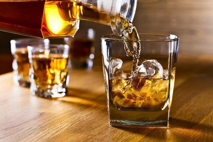 pouring liquor