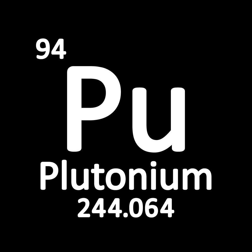 Periodic table element plutonium