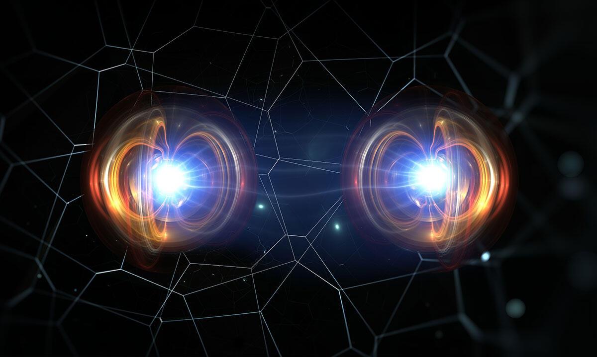 Illustration of quantum particles