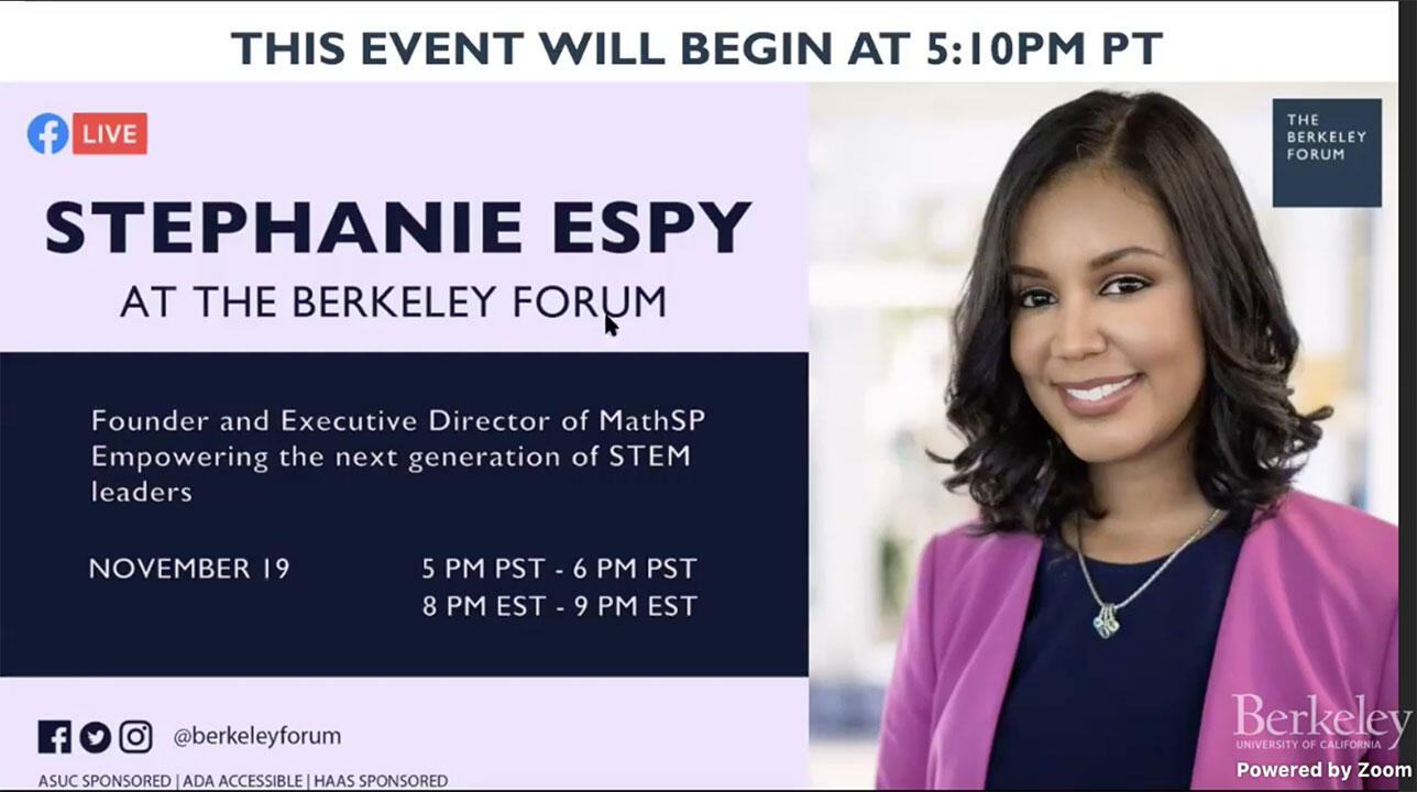 Stephanie Epsy link to Berkeley Forum