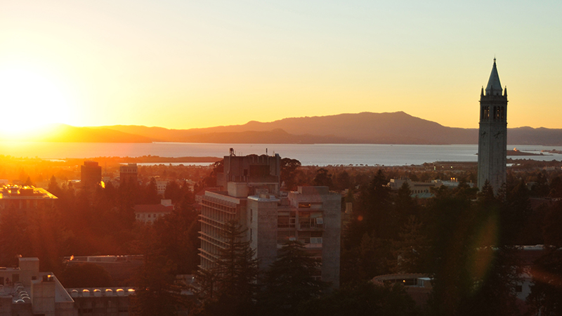 Campus at sunset by Keegan Houser
