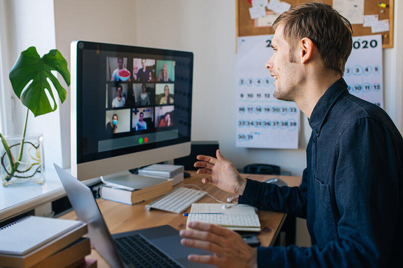 Students on zoom call