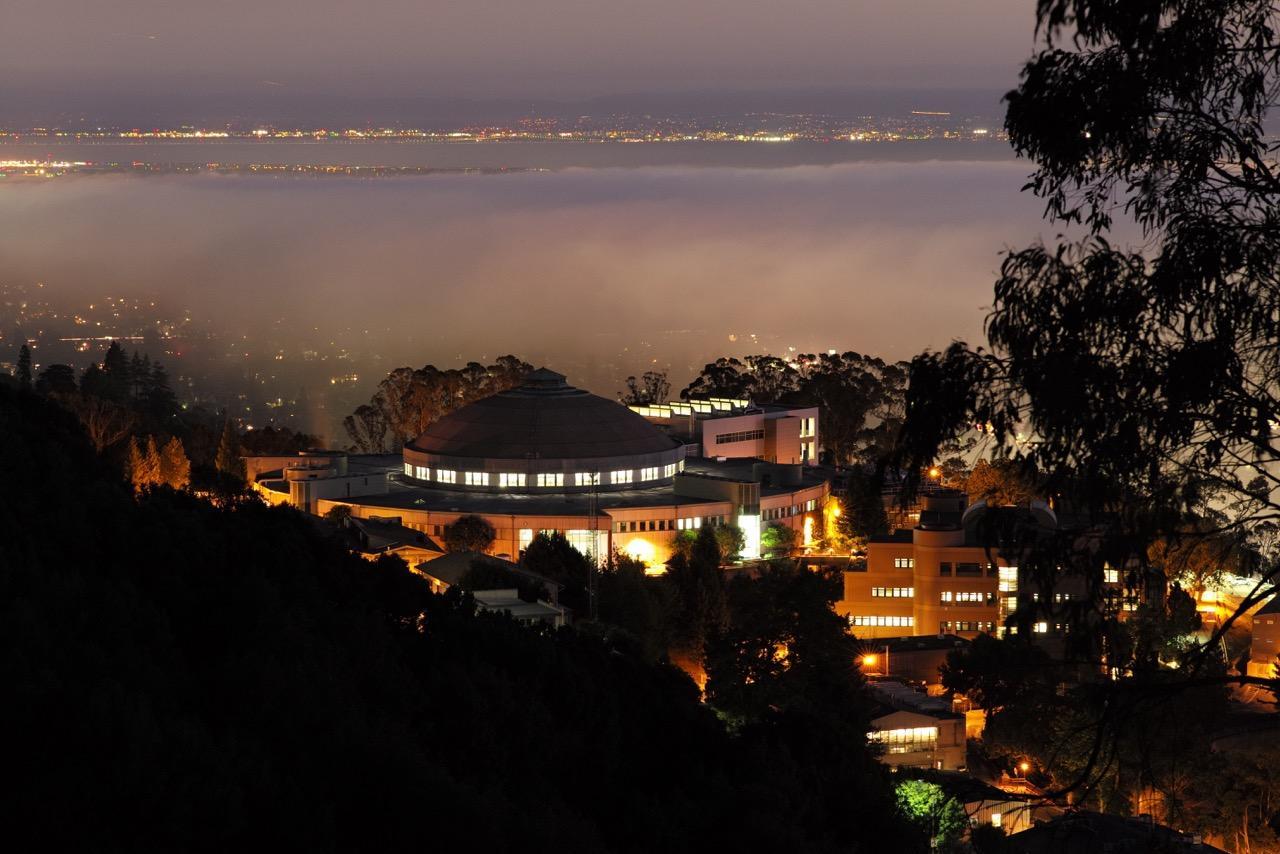 Berkeley campus at night