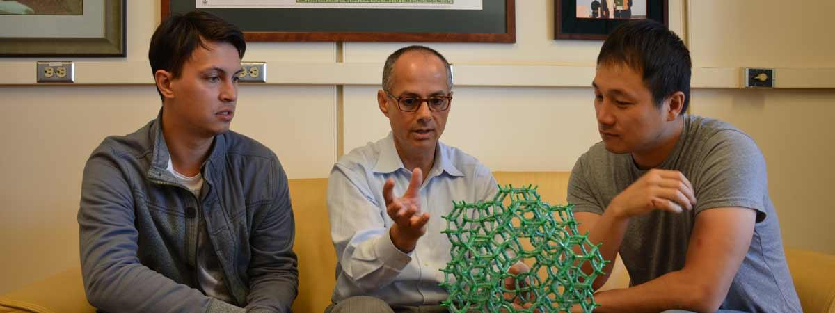 Omar Yaghi with postdocs