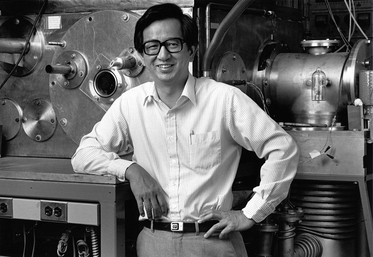 Y.T. Lee in Lab - undated