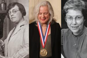 Agnes Fay Morgan, Judith Klinman and Darleane Hoffman