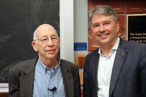Robert Bergman and Doug Clark before the G.N. Lewis memorial lecture begins