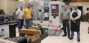 Shop supervisor Eric Granlund retires