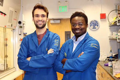 Alex Rovira and Richmond Sarpong at UC Berkeley