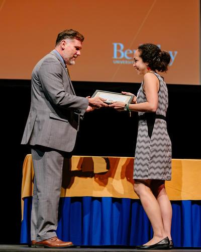 Christiane (Chrissy) Stachl receives Dean's award