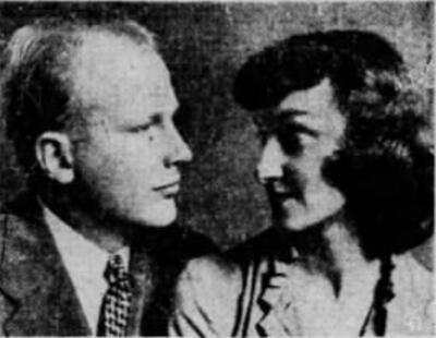 A portrait of William and Marie Twitchell that ran in newspapers nationwide after his tragic death in 1953_SF_Examiner